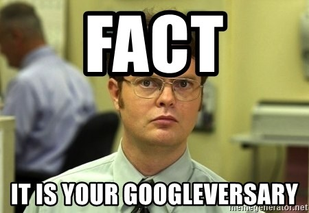 Dwight Schrute - FACT It is your Googleversary