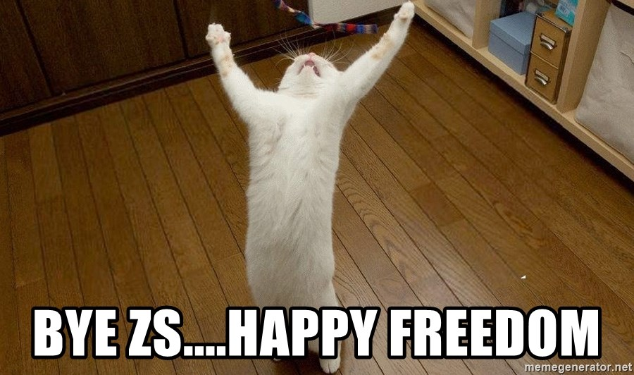 praise the lord cat - Bye ZS....Happy Freedom