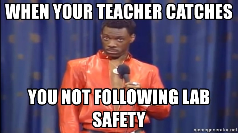 Eddie Murphy - Really? - When your teacher catches  you not following lab safety